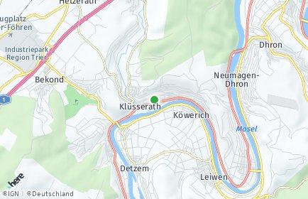 Stadtplan Klüsserath