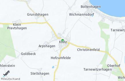 Stadtplan Klütz OT Christinenfeld