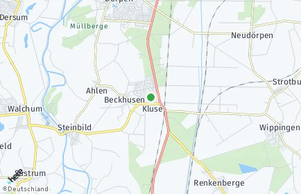 Stadtplan Kluse