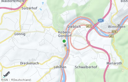 Stadtplan Kobern-Gondorf