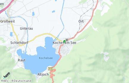 Stadtplan Kochel am See