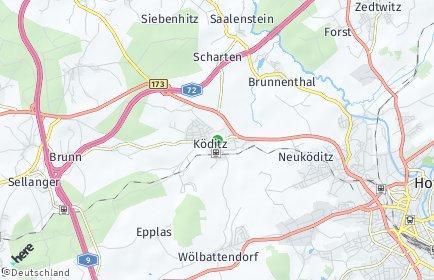 Stadtplan Köditz