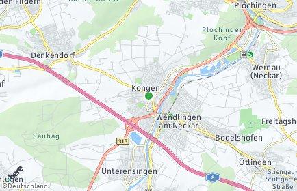 Stadtplan Köngen