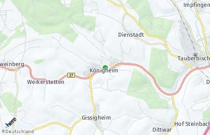 Stadtplan Königheim