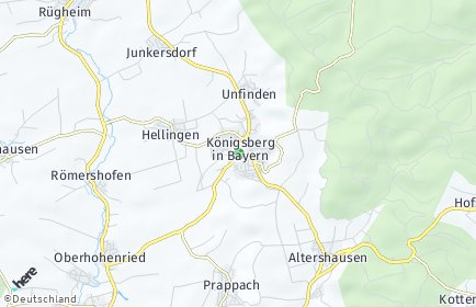 Stadtplan Königsberg in Bayern
