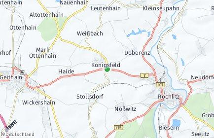 Stadtplan Königsfeld (Sachsen)