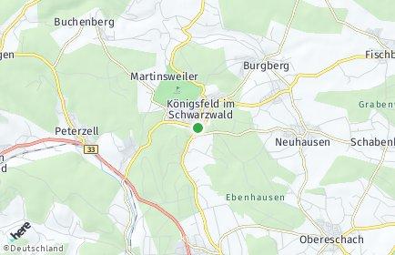 Stadtplan Königsfeld im Schwarzwald