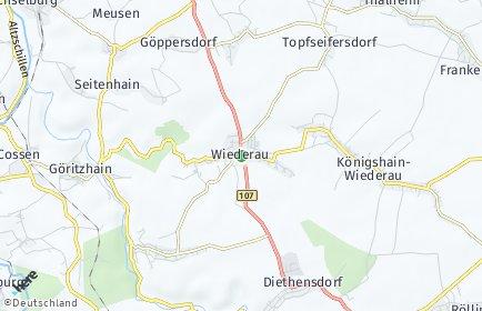 Stadtplan Königshain-Wiederau