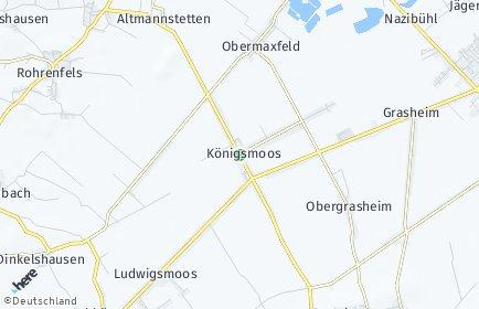 Stadtplan Königsmoos