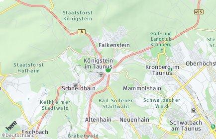 Stadtplan Königstein im Taunus