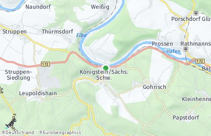 Stadtplan Königstein/Sächsische Schweiz