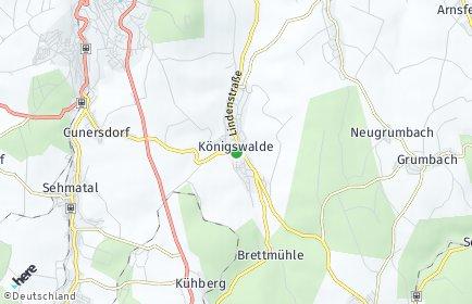 Stadtplan Königswalde