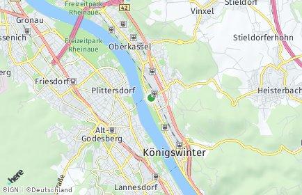 Stadtplan Königswinter