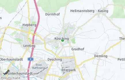 Stadtplan Kösching