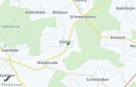 Stadtplan Köthel (Lauenburg)