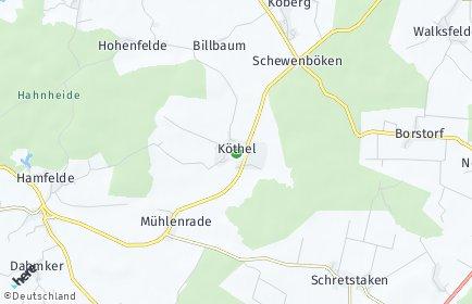 Stadtplan Köthel (Stormarn)
