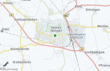 Stadtplan Köthen OT Arensdorf