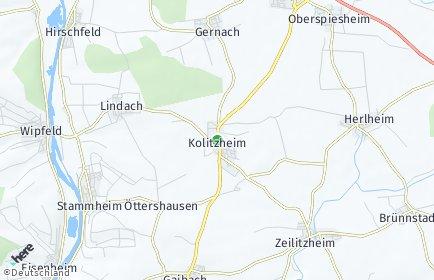 Stadtplan Kolitzheim