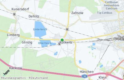 Stadtplan Kolkwitz