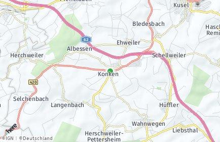 Stadtplan Konken