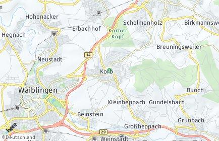 Stadtplan Korb