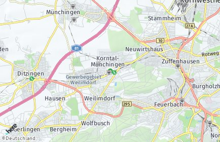 Stadtplan Korntal-Münchingen
