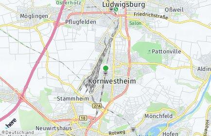 Stadtplan Kornwestheim