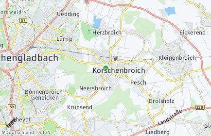 Stadtplan Korschenbroich