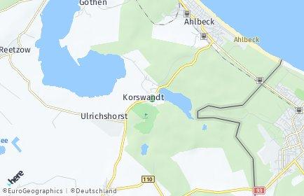 Stadtplan Korswandt