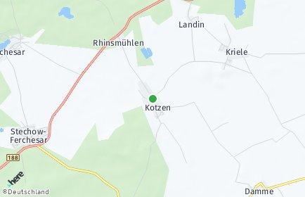 Stadtplan Kotzen