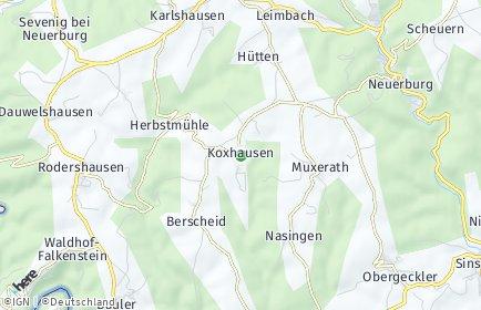 Stadtplan Koxhausen