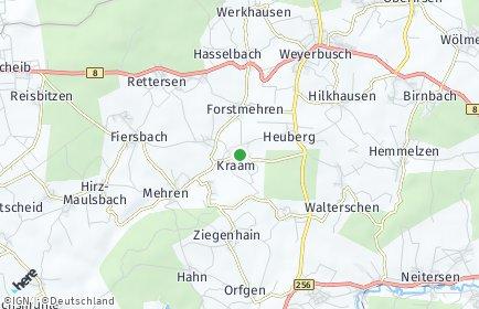 Stadtplan Kraam