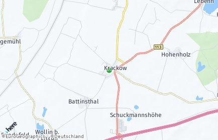 Stadtplan Krackow