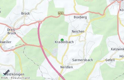 Stadtplan Kradenbach