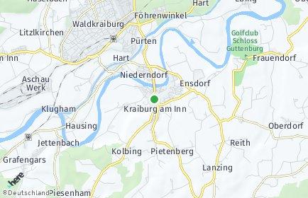 Stadtplan Kraiburg am Inn OT Kolbing am Inn