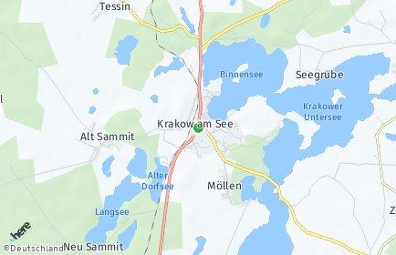 Stadtplan Krakow am See