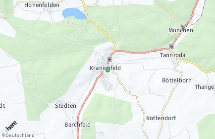 Stadtplan Kranichfeld