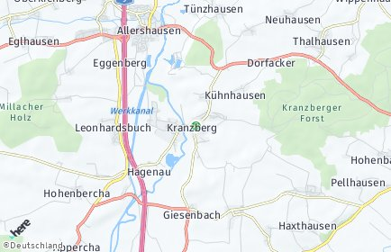 Stadtplan Kranzberg