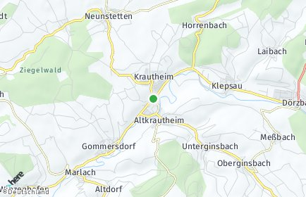 Stadtplan Krautheim (Jagst)