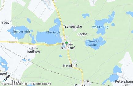 Stadtplan Kreba-Neudorf