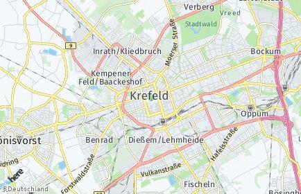 Stadtplan Krefeld