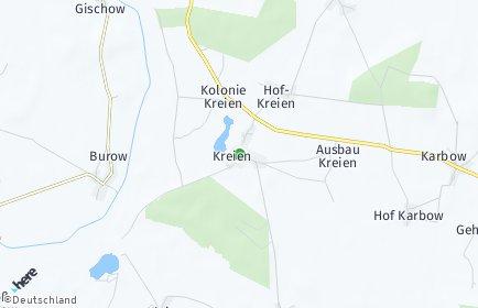 Stadtplan Kreien