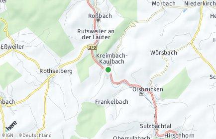 Stadtplan Kreimbach-Kaulbach