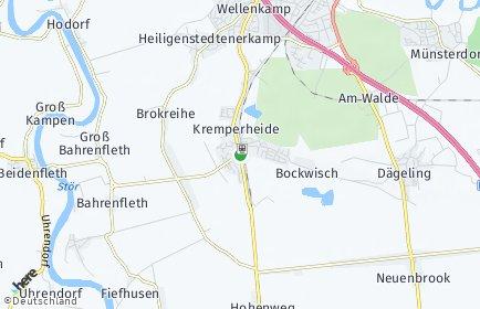 Stadtplan Kremperheide