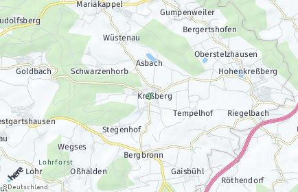 Stadtplan Kreßberg OT Vehlenberg