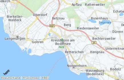 Stadtplan Kressbronn am Bodensee