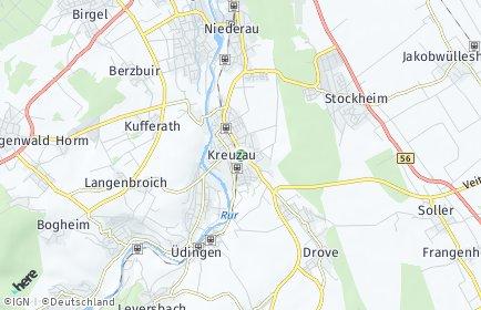 Stadtplan Kreuzau