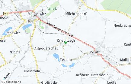 Stadtplan Kriebitzsch