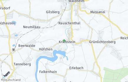 Stadtplan Kriebstein