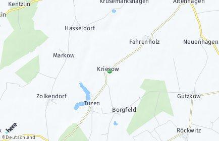 Stadtplan Kriesow